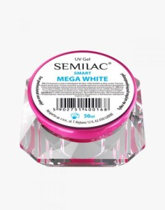 Semilac Lakier żelowy do zdobień UV Gel Smart Mega White 50ml
