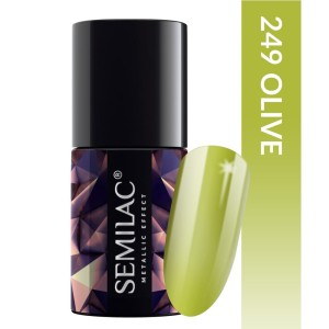 Semilac 249 Metallic effect Olive
