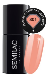 Semilac 801 Extend 5in1 Soft Beige 7 ml