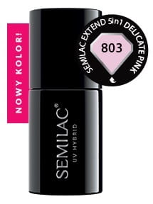 Semilac 803 Extend 5in1 Delicate Pink 7 ml