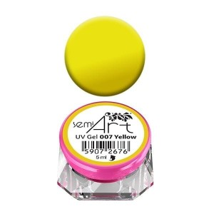 Semilac Lakier żelowy do zdobień Semi Art UV Gel 007 Yellow
