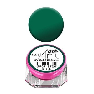 Semilac Lakier żelowy do zdobień Semi Art UV Gel 012 Green