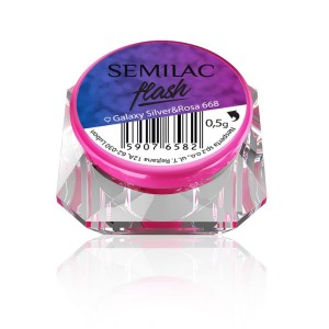 Semilac Flash Galaxy Silver&Rosa 668 - 0,5g
