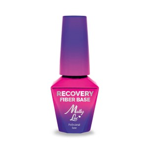 Molly Lac Baza hybrydowa Recovery Fiber Base Molly Lac Clear Pink 10 ml