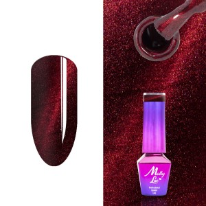 Molly Lac 181 Cat Eye Fire Topless red lakier hybrydowy 5ml