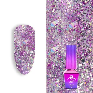 Molly Lac 159 Luxury Limited Gem Silver Be Magical lakier hybrydowy 5ml