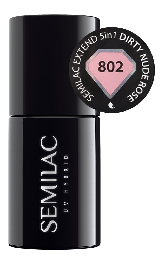 802 semilac extend 5in1 dirty nude rose 7 ml
